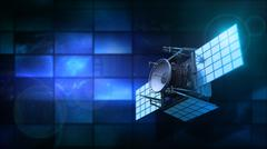 Satellite and monitors Stock Illustration
