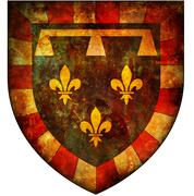 centre coat of arms - stock illustration