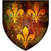 Ile de france coat of arms Stock Illustration