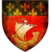 Paris coat of arms Stock Illustration