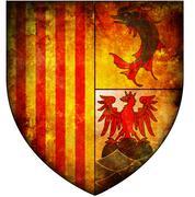 provence alpes cote d'azur coat of arms - stock illustration