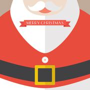 Santa Claus Coat Merry Christmas Stock Illustration