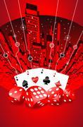 Abstract gambling illustration - stock illustration