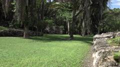 Costa Maya Mexico Kohunlich Mayan Ruins sport court 4K Stock Footage