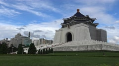 Beautiful monument, Chiang Kai-shek Memorial Hall Tourist attraction Taipei-Dan Stock Footage
