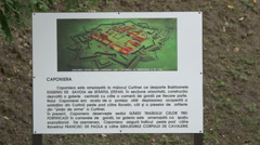 View of a placard containing information about a contact tunnel in Alba Iulia Stock Footage