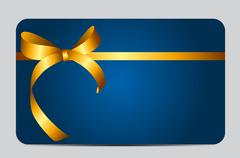 Card with Red Gift Ribbon. Vector illustration. Vector illustrat Stock Illustration