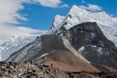 Nepal, Khumbu, Lhotse Stock Photos