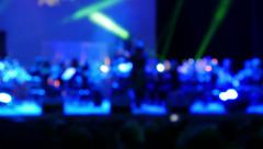 Classical Music Performance In The Concert Hall,Defocus Background Stock Footage