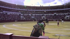 Traditional Spanish bullfighting Stock Footage