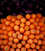 Close up of large group of carrots - stock photo
