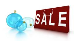 Christmas sale with baubles and bag Stock Illustration