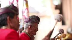 Balinese senior musican Stock Footage