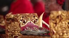 A close up gamelan played Stock Footage