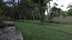 Costa Maya Mexico Kohunlich Mayan Ruins sport court tourism 4K Stock Footage