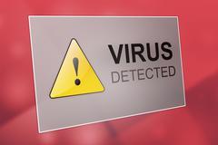Stock Illustration of Virus detected