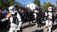 Star Wars parade Stock Footage