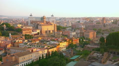 Aerial view from Palatine Hill, Italy Stock Footage