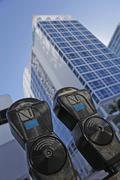USA, Florida, Miami, Miami Beach, Parking meters Stock Photos