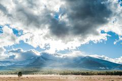 USA, Arizona, San Francisco Peaks, Flagstaff, Scenic view of landscape Stock Photos