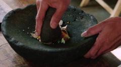 Crushing vegetables Stock Footage
