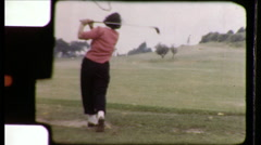 Woman Swings Golf Club Course 1950s Vintage Film Home Movie 8630 Arkistovideo