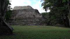 Costa Maya Mexico Kohunlich Mayan Ruins temple 4K Stock Footage