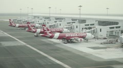 Air asia airplanes Stock Footage