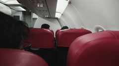 Inside an airplane Stock Footage