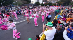Carnival groups and costumed characters,Tenerife, Canary Islands, Spain - stock footage