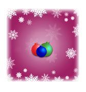 Christmas bauble background, design. Winter wallpaper illustration. - stock illustration