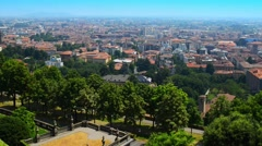 Bergamo is a city in Lombardy, Italy Stock Footage
