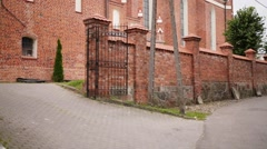 Church of Sts. Anna located in Barczewo, Poland Stock Footage