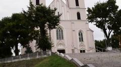 Transfiguration of Lord Church in Piatnica, Poland Stock Footage