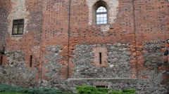 Teutonic castle in Nidzica, Poland Stock Footage