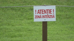 Stock Video Footage of Restricted area sign in Alba Iulia fortress