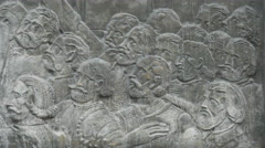 Stock Video Footage of Bas-relief on the Princely Palace from Alba Iulia fortress