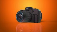 Photography orange background - stock footage