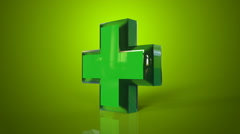 Pharmacy green background Stock Footage