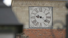 Saint Michael Cathedral clock tower in Alba Iulia - stock footage