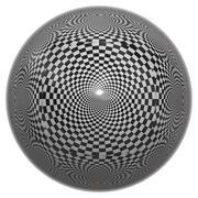 Chessboard ball Stock Illustration