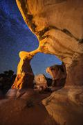 USA, Utah, Grand Staircase-Escalante National Monument, Metate Arch, Devil's - stock photo