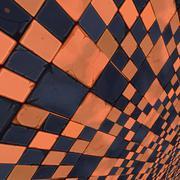 Distorted orange checkers Stock Illustration