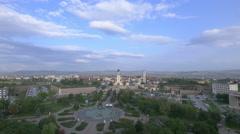 Stock Video Footage of Alba Iulia cityscape
