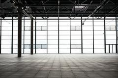 modern empty show room - stock photo