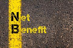 Business Acronym NB as Net Benefit - stock photo