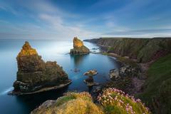 UK, Scotland, Duncansby Stacks - stock photo