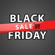 Stock Illustration of Black friday sale illustration