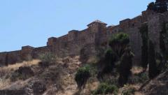 The Alcazaba and the Roman Amphitheatre in Malaga, Andalusia Spain Stock Footage