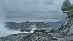Storm on the Italian Riviera - 25FPS PAL Stock Footage